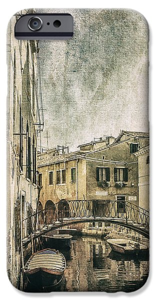 Facade Digital iPhone Cases - Venice Back in Time iPhone Case by Julie Palencia
