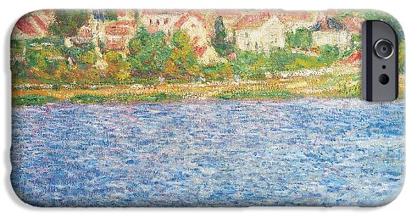 River View iPhone Cases - Vetheuil iPhone Case by Claude Monet