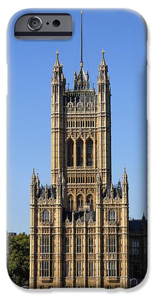 Westminster Palace iPhone Cases - Victoria Tower and the Palace of Westminster in London England iPhone Case by Robert Preston