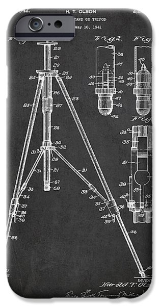 Vintage Tripod Patent Drawing from 1941 iPhone Case by Aged Pixel