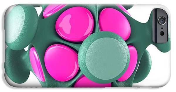 Pathogen iPhone Cases - Virus Particle, Conceptual Image iPhone Case by Laguna Design