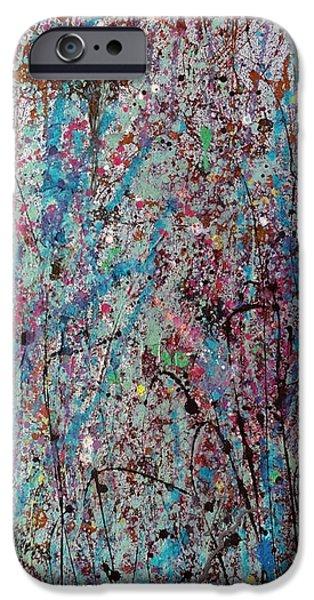 Concept Paintings iPhone Cases - Viva la Vida Triptic iPhone Case by Katie Black