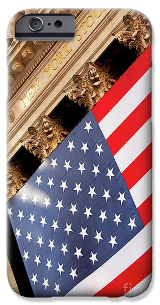 Wall Street Flag iPhone Case by Brian Jannsen