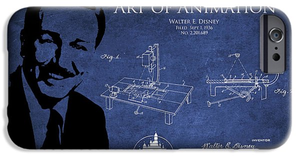 Recently Sold -  - Animation iPhone Cases - Walt Disney Patent from 1936 iPhone Case by Aged Pixel