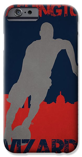 Dunk iPhone Cases - Washington Wizards iPhone Case by Joe Hamilton
