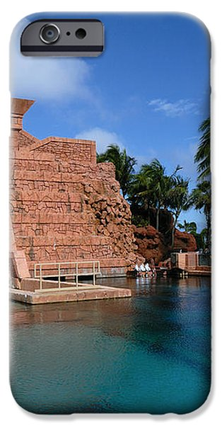 Water Slide at the Mayan Temple Atlantis Resort iPhone Case by Amy Cicconi
