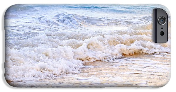 Escape iPhone Cases - Waves breaking on tropical shore iPhone Case by Elena Elisseeva