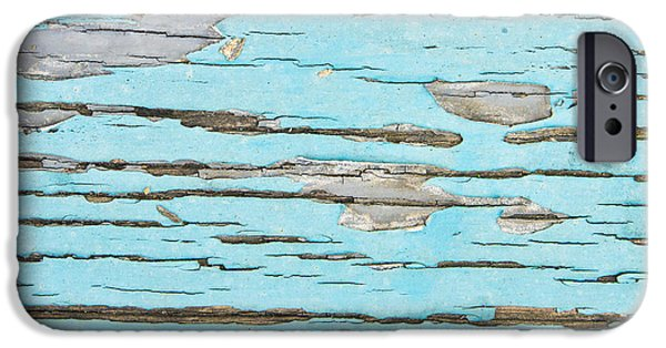 Old Plank Tables Photographs iPhone Cases - Weathered wood iPhone Case by Tom Gowanlock