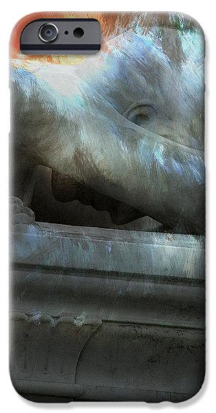 Chico iPhone Cases - Weeping Angel iPhone Case by Peter Piatt