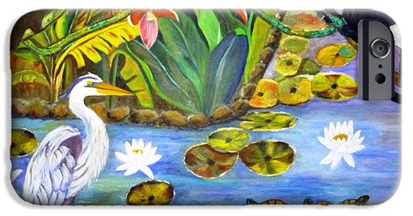 Food And Beverage Tapestries - Textiles iPhone Cases - On The Lotus Pond iPhone Case by To-Tam Gerwe