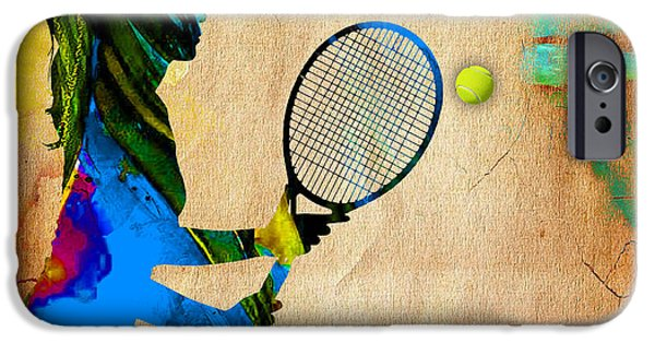 Womens Tennis iPhone Cases - Womens Tennis iPhone Case by Marvin Blaine