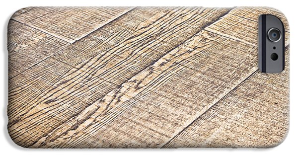 Wood Grain iPhone Cases - Wooden floor iPhone Case by Tom Gowanlock