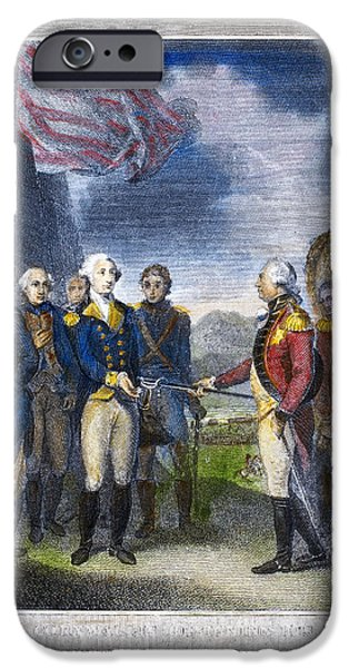 Yorktown iPhone Cases - Yorktown: Surrender, 1781 iPhone Case by Granger