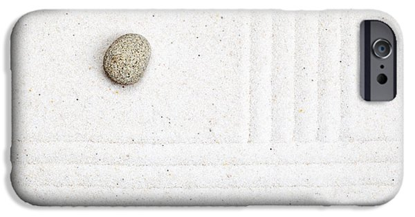 Zen Sculptures iPhone Cases - Zen garden iPhone Case by Shawn Hempel