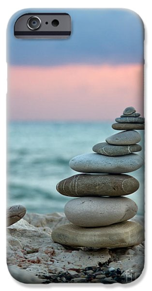 Pebbles iPhone Cases - Zen iPhone Case by Stylianos Kleanthous