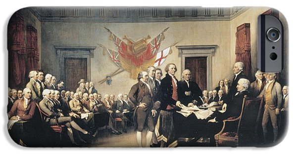 John Stockton iPhone Cases - Declaration Of Independence iPhone Case by Granger