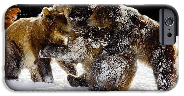 Recently Sold -  - Wintertime iPhone Cases - 300 Pound Playmates iPhone Case by Kae Cheatham