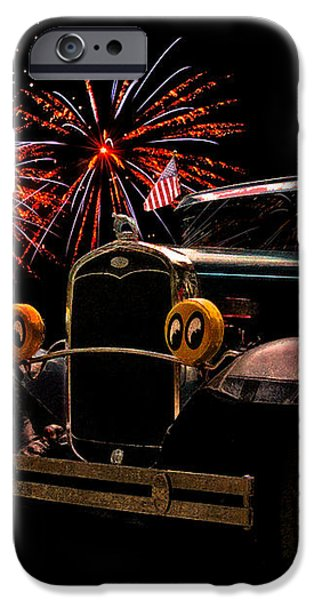 31 Five Window Coupe on the Fourth of July iPhone Case by Chas Sinklier