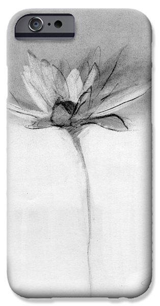 Petals Drawings iPhone Cases - RCNpaintings.com iPhone Case by Chris N Rohrbach