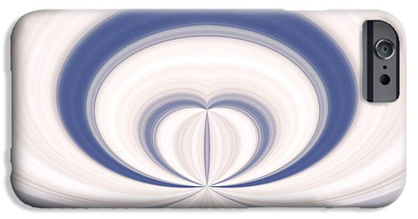 Concept Art iPhone Cases - Abstract Love iPhone Case by Dan Radi