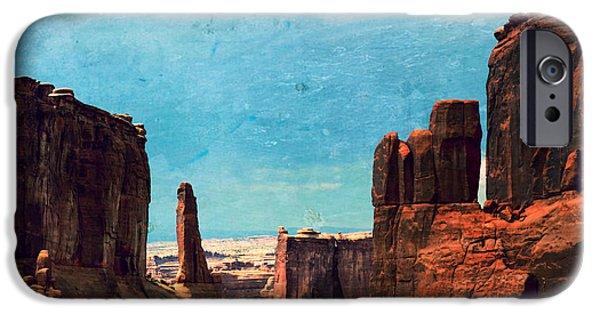 Landscape Poster Photographs iPhone Cases - Arches National Park iPhone Case by Sophie Vigneault
