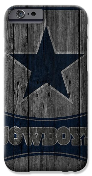 Snow iPhone Cases - Dallas Cowboys iPhone Case by Joe Hamilton