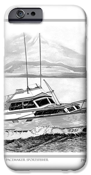 32 foot Pacemaker Sportsfisher iPhone Case by Jack Pumphrey