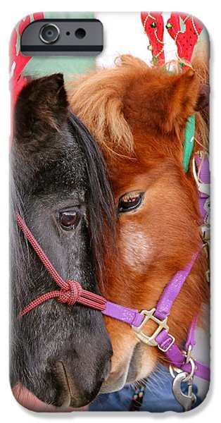 The Horse iPhone Cases - 32. Shetland Ponies at Reno Town Mall iPhone Case by Maria Jansson