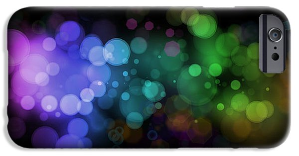 Abstractions Digital iPhone Cases - Abstract background iPhone Case by Les Cunliffe