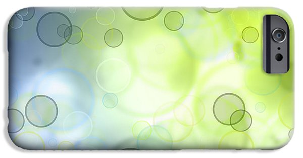 Abstracts iPhone Cases - Abstract background iPhone Case by Les Cunliffe