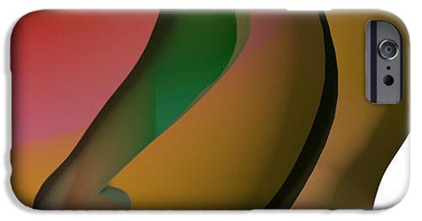 Celebrities Art iPhone Cases - Amants Abstraits iPhone Case by Sir Josef  Putsche