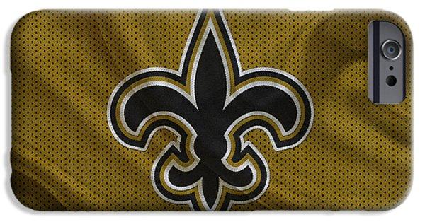 Saint iPhone Cases - New Orleans Saints iPhone Case by Joe Hamilton