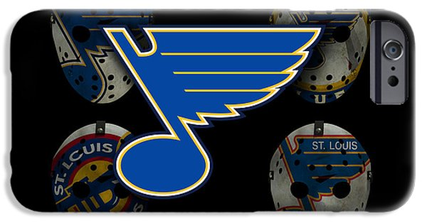 Skates iPhone Cases - St Louis Blues iPhone Case by Joe Hamilton