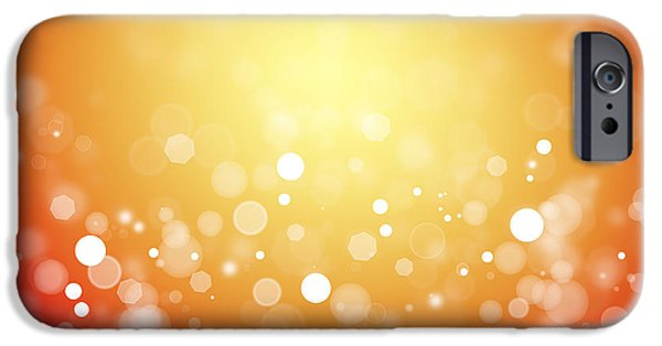 Yellow Images iPhone Cases - Abstract background iPhone Case by Les Cunliffe