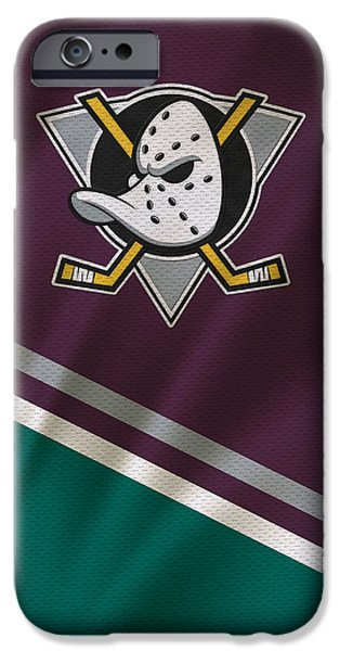 Recently Sold -  - Winter iPhone Cases - Anaheim Ducks iPhone Case by Joe Hamilton