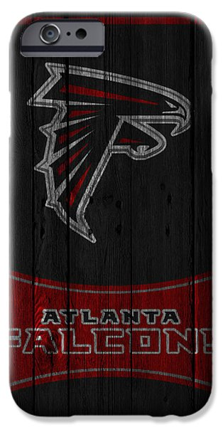 Recently Sold -  - Santa iPhone Cases - Atlanta Falcons iPhone Case by Joe Hamilton