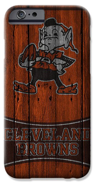 Cleveland iPhone Cases - Cleveland Browns iPhone Case by Joe Hamilton