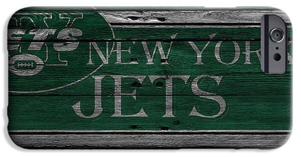 Sports Photographs iPhone Cases - New York Jets iPhone Case by Joe Hamilton