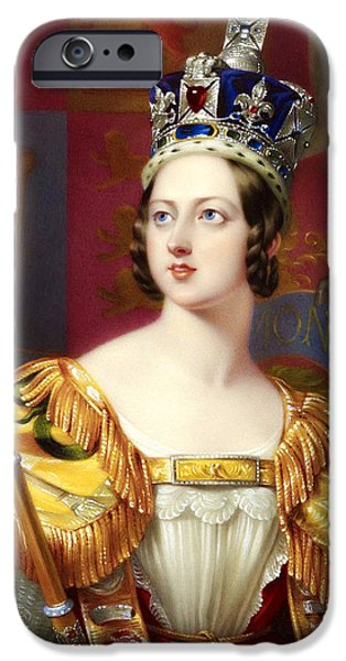 Royal Family Arts iPhone Cases - 34. Queen Victoria of the United Kingdom Art Print iPhone Case by Royal Portraits