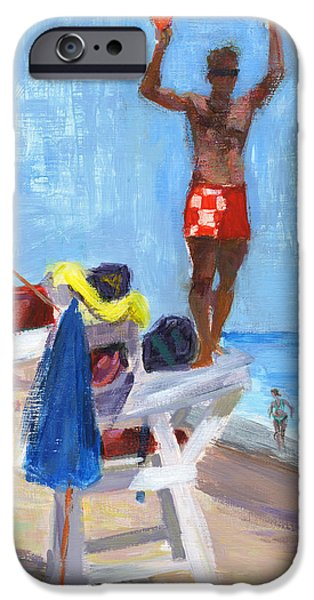 Jersey Shore Paintings iPhone Cases - RCNpaintings.com iPhone Case by Chris N Rohrbach