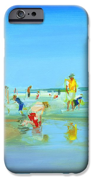 Sandcastles iPhone Cases - RCNpaintings.com iPhone Case by Chris N Rohrbach