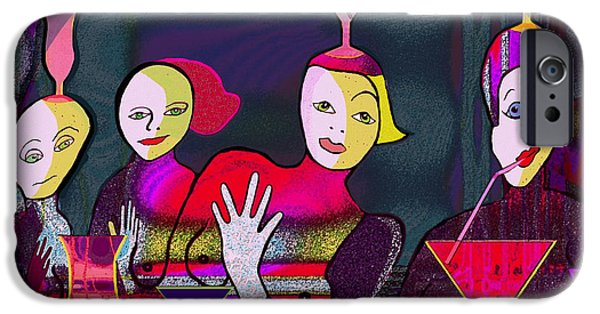 Irmgard iPhone Cases - 349 - Crazy Cocktail Bar   iPhone Case by Irmgard Schoendorf Welch
