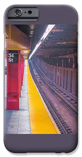 Abstract Digital Photographs iPhone Cases - 34th Street Subway Station - New York City iPhone Case by Ben and Raisa Gertsberg