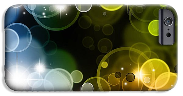 Sparkling iPhone Cases - Abstract background iPhone Case by Les Cunliffe