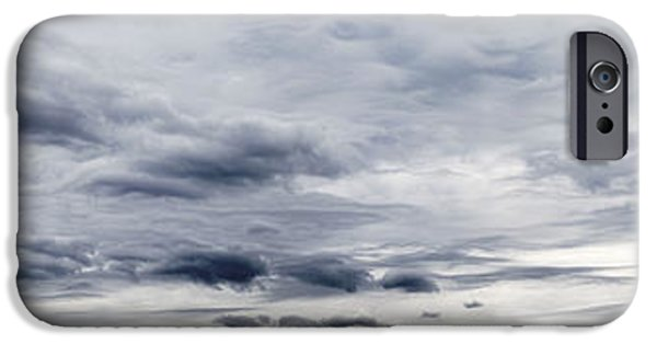 Grey Clouds Photographs iPhone Cases - Clouds iPhone Case by Les Cunliffe