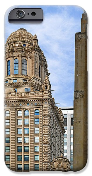 Interior Scene iPhone Cases - 35 East Wacker - Jewelers Building Chicago iPhone Case by Christine Till