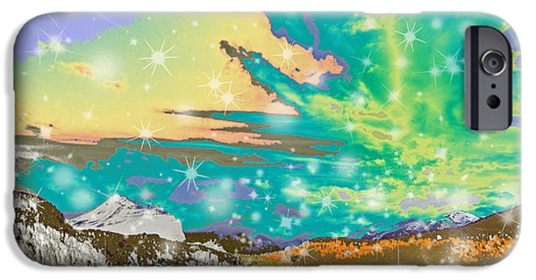 Planet Fantastic iPhone Cases - Space Landscape iPhone Case by Augusta Stylianou