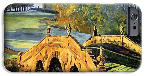Architectural Elements iPhone Cases - 355 Ancient English Bridge iPhone Case by David Lloyd Glover