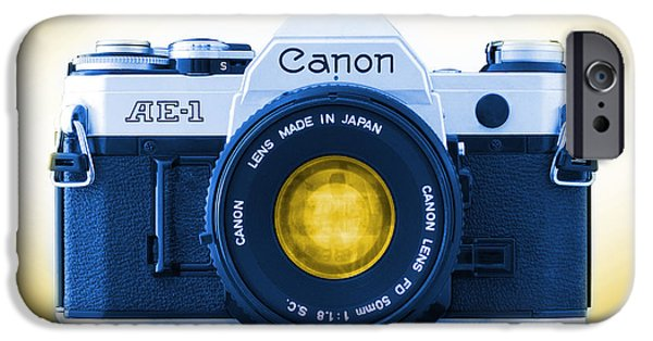 35mm iPhone Cases - 35mm BLUES Canon AE-1 iPhone Case by Mike McGlothlen