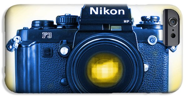 35mm iPhone Cases - 35mm BLUES Nikon F-3hp iPhone Case by Mike McGlothlen